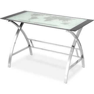 Aether Desk - Chrome