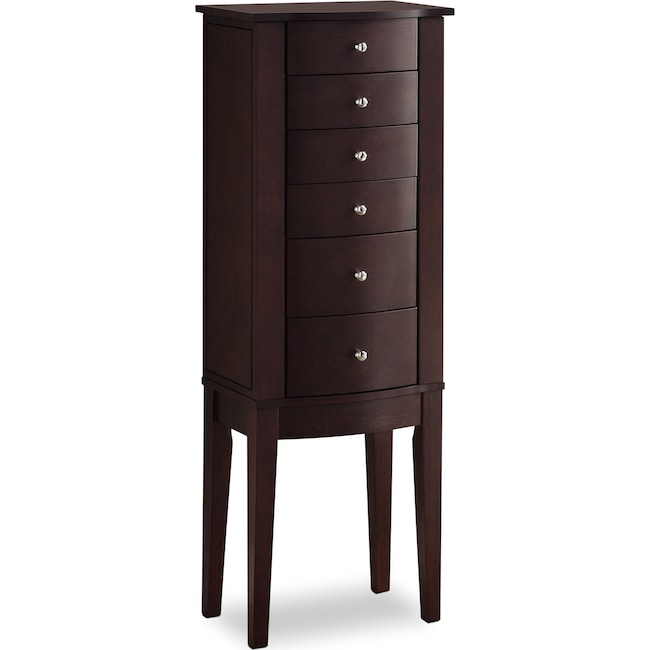Accent and Occasional Furniture - Abbie Jewelry Armoire - Merlot