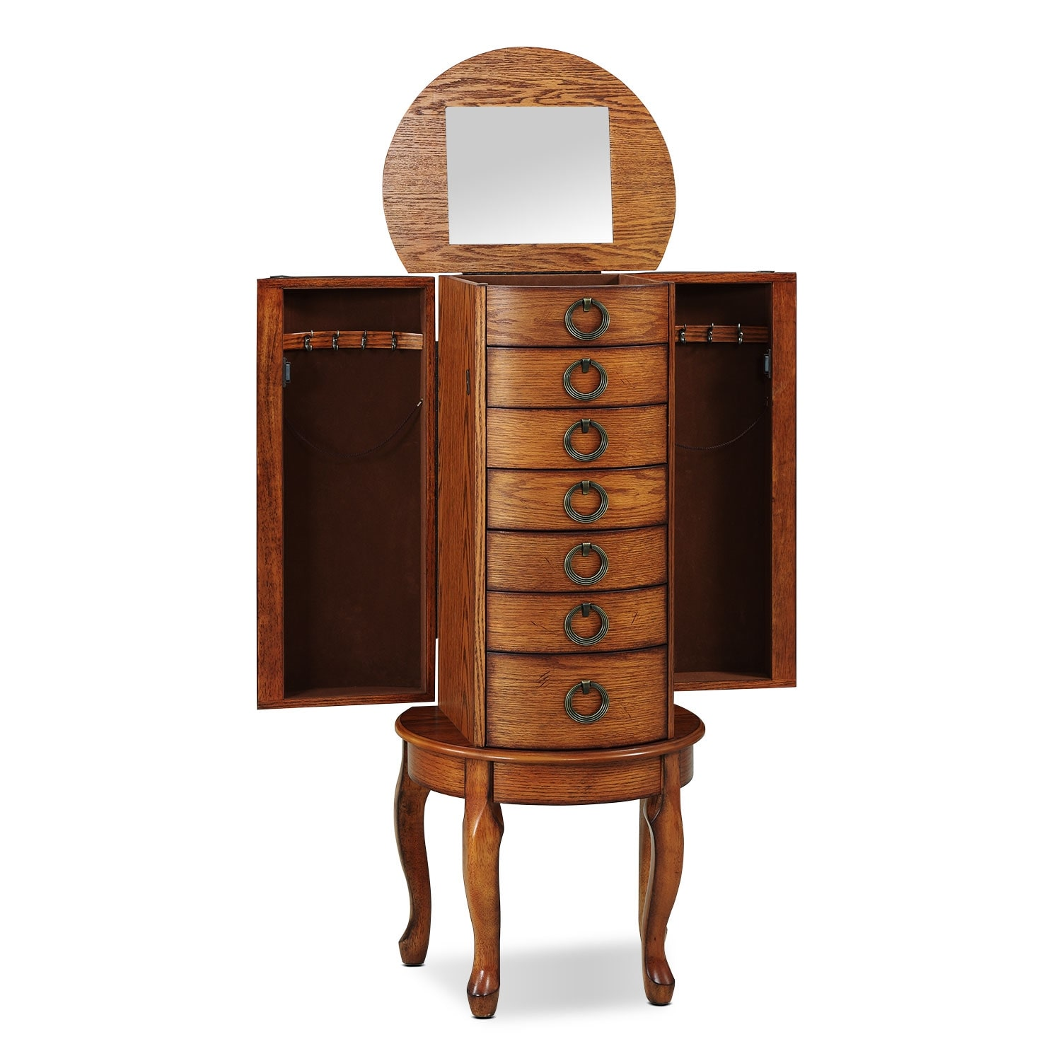 Niles Jewelry Armoire - Oak