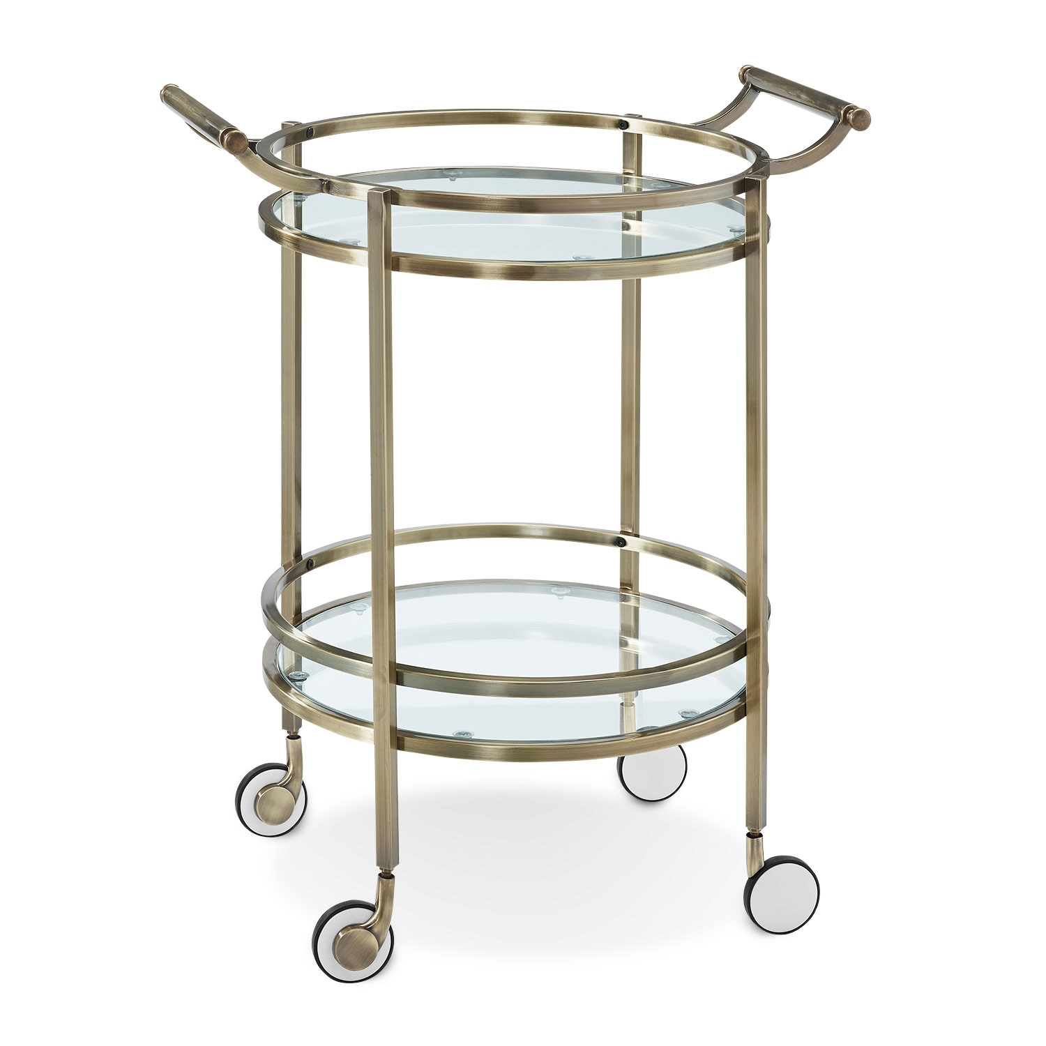 Accent and Occasional Furniture - Layne Serving Cart - Brass