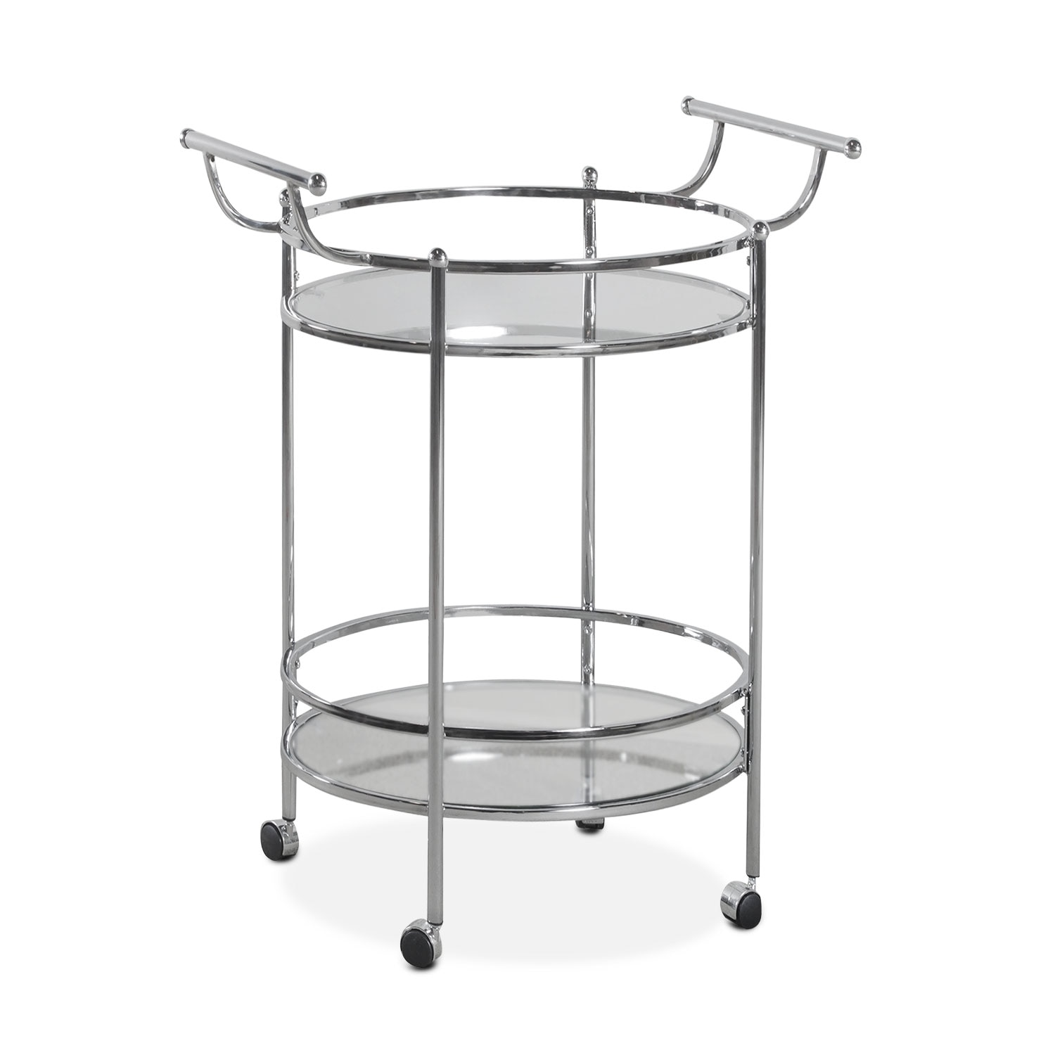Accent and Occasional Furniture - Layne Serving Cart - Chrome