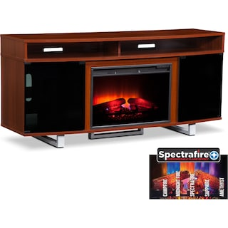 "Pacer 64"" Traditional Fireplace TV Stand - Cherry"