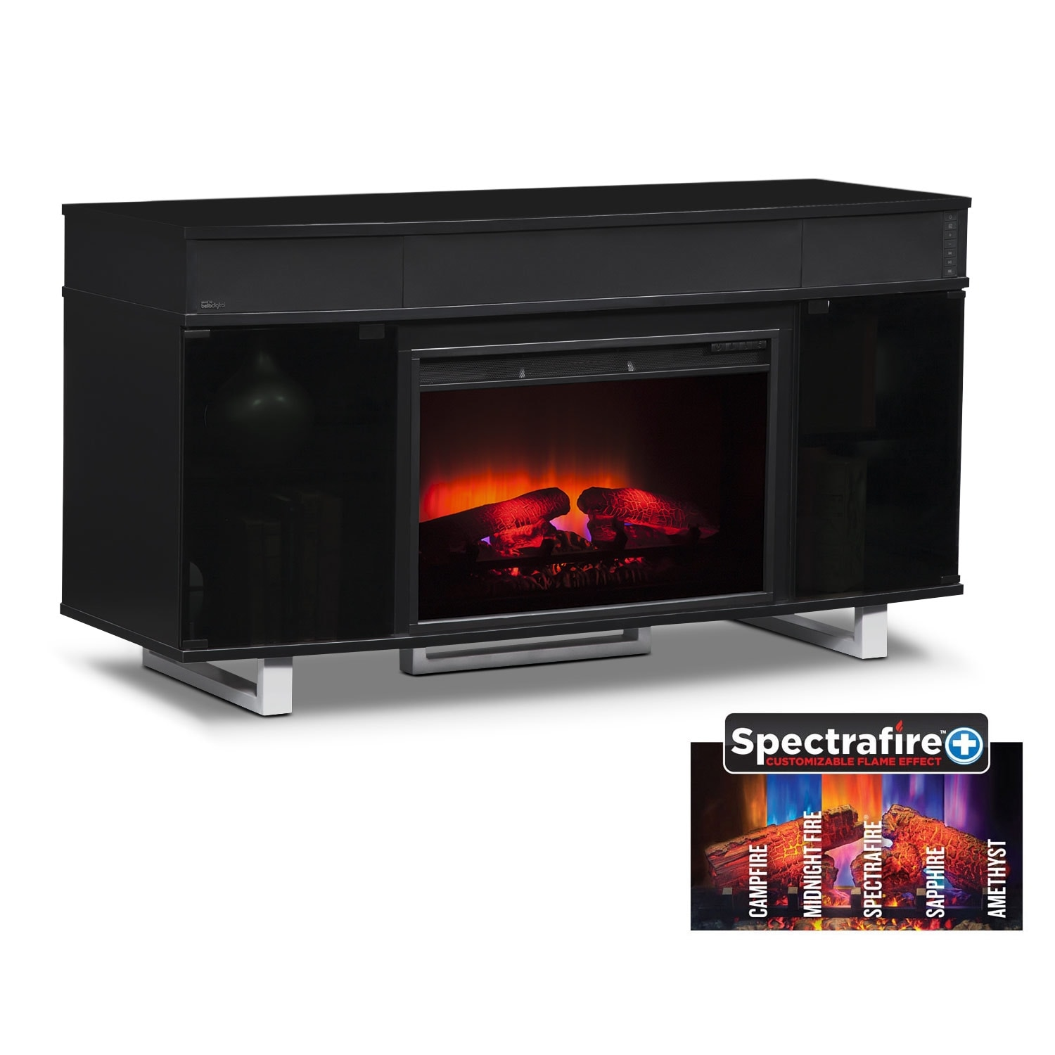 Pacer 56 Quot Traditional Fireplace Tv Stand With Sound Bar