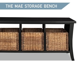 Shop the Mae Black Entryway Storage Bench