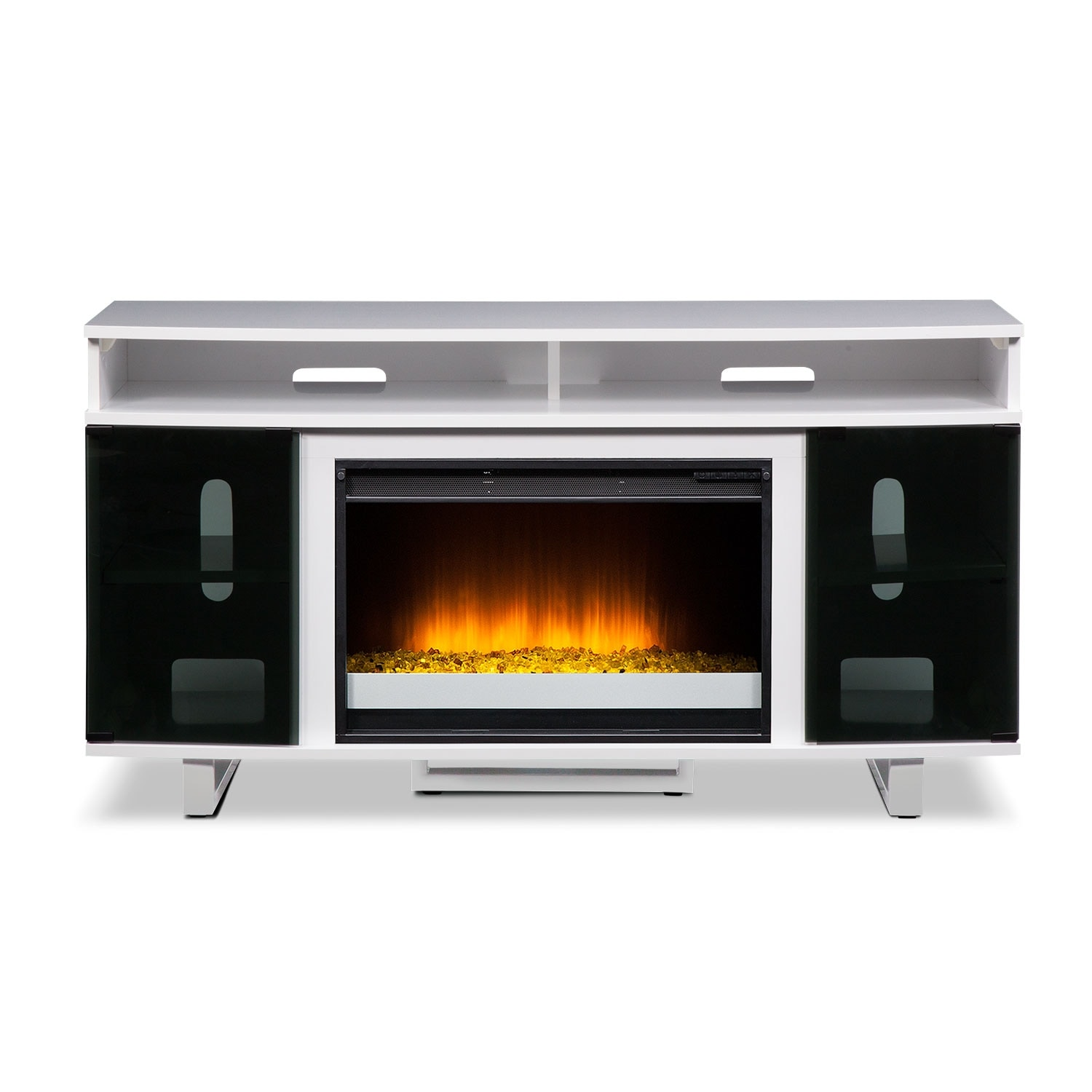 Pacer 56 Contemporary Fireplace TV Stand