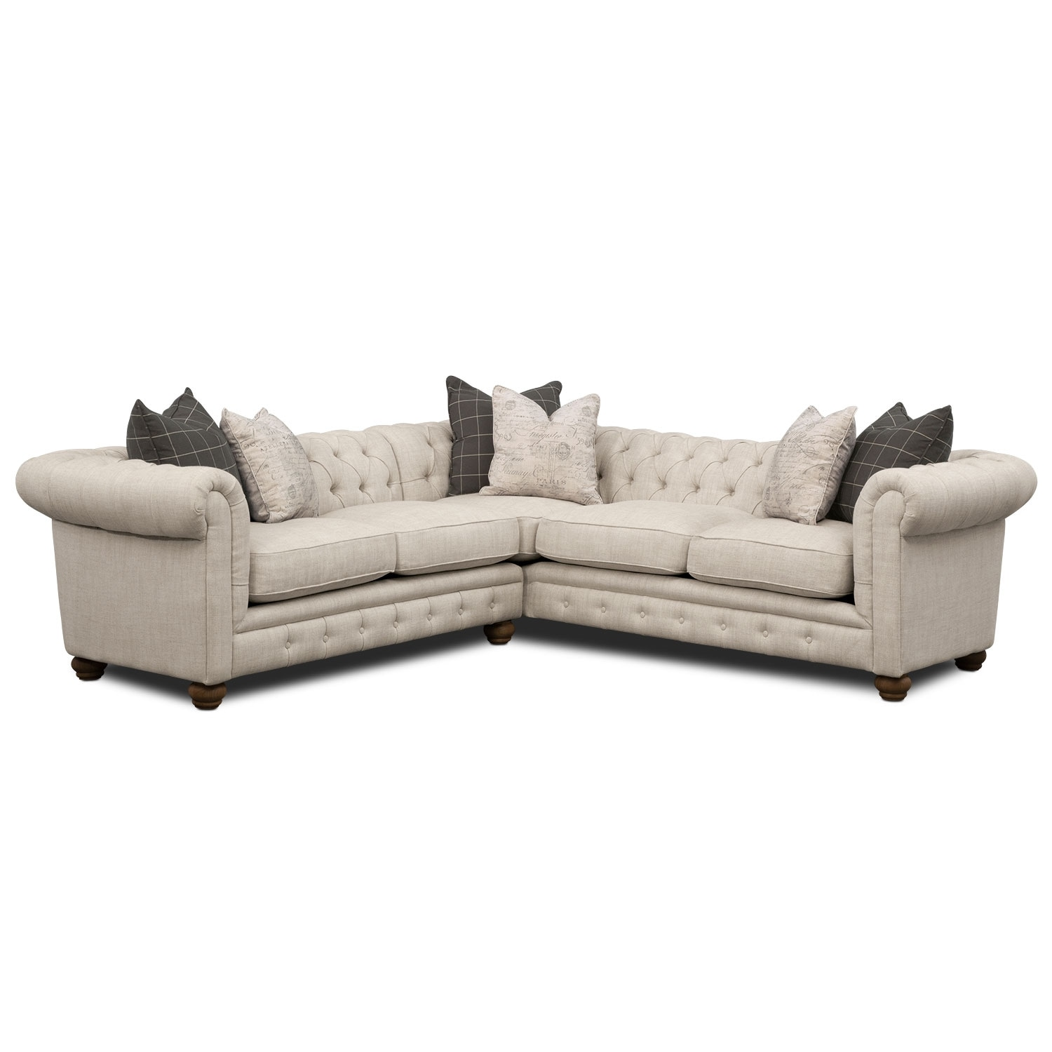 Madeline Beige Sectional Sofa