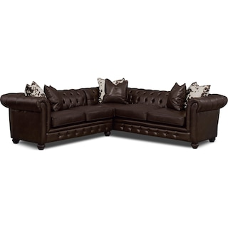 Madeline 2-Piece Sectional - Chocolate