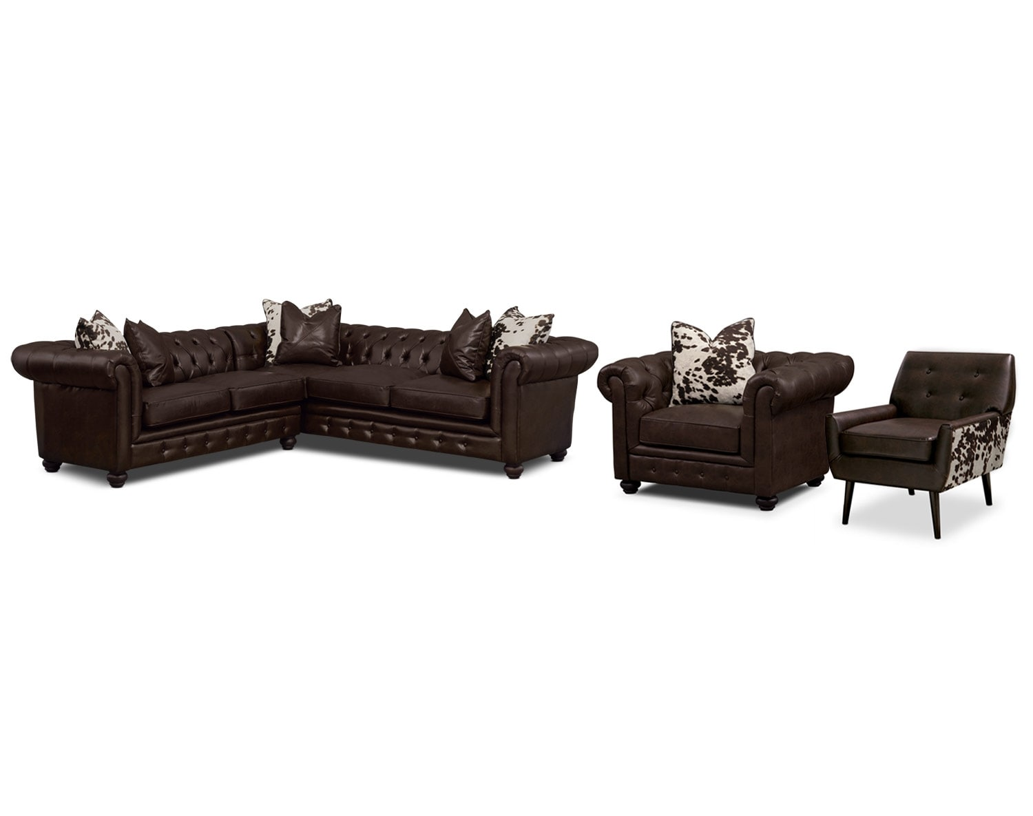[The Madeline Chocolate Sectional Collection]