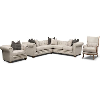 The Madeline Sectional Collection - Beige
