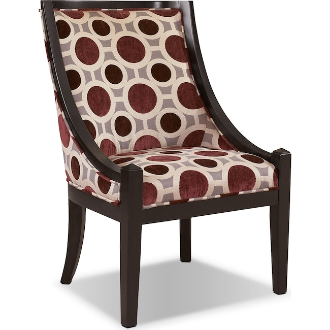 Living Room Furniture - Callie Accent Chair - Mulberry