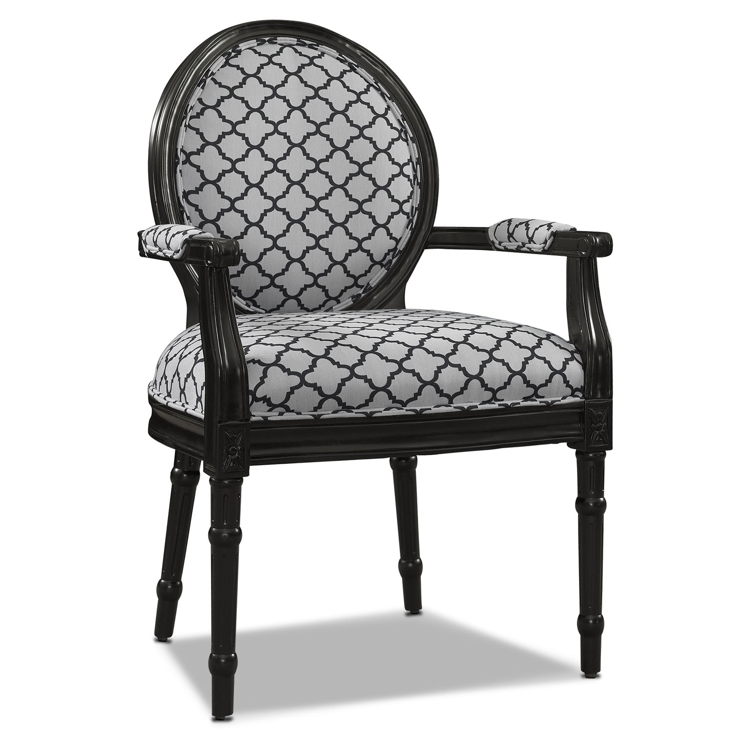 American Accent Furniture Selayang: Myra Accent Chair - Black And White