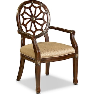 Vicola Accent Chair - Mahogany