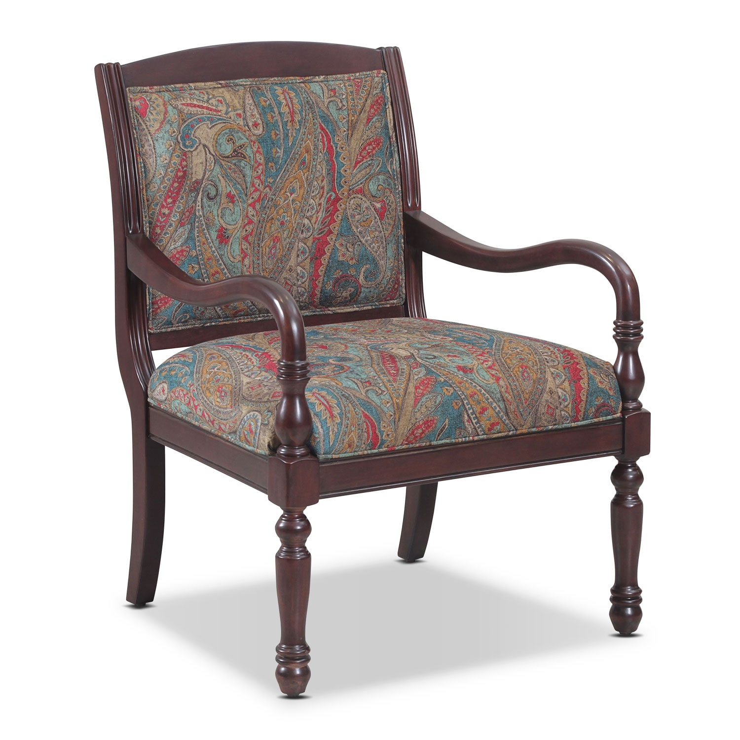 Living Room Furniture - Cadence Accent Chair - Paisley
