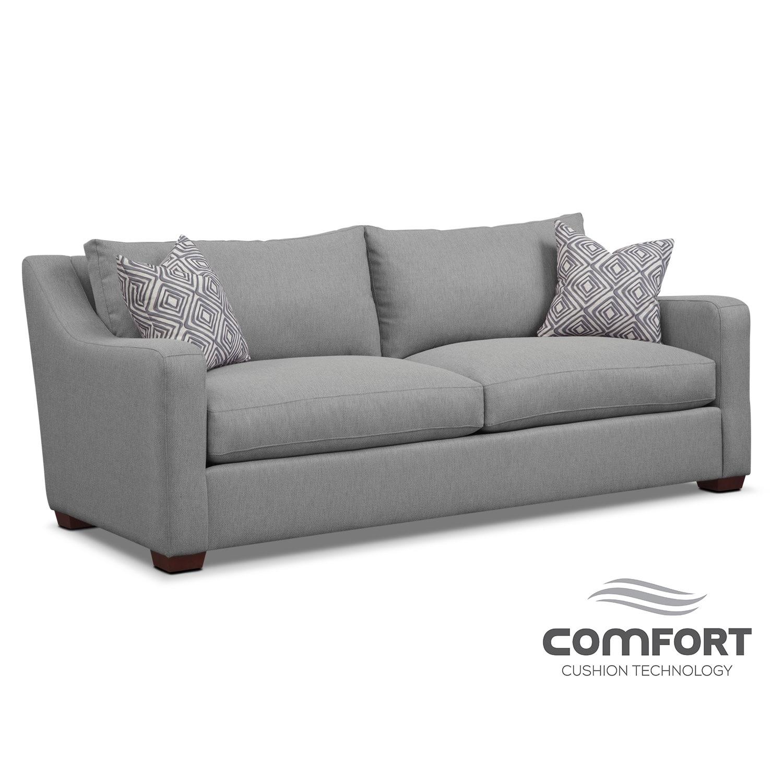 Jules Comfort Sofa- Gray