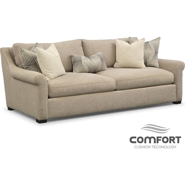 Living Room Furniture - Robertson Comfort Sofa - Beige