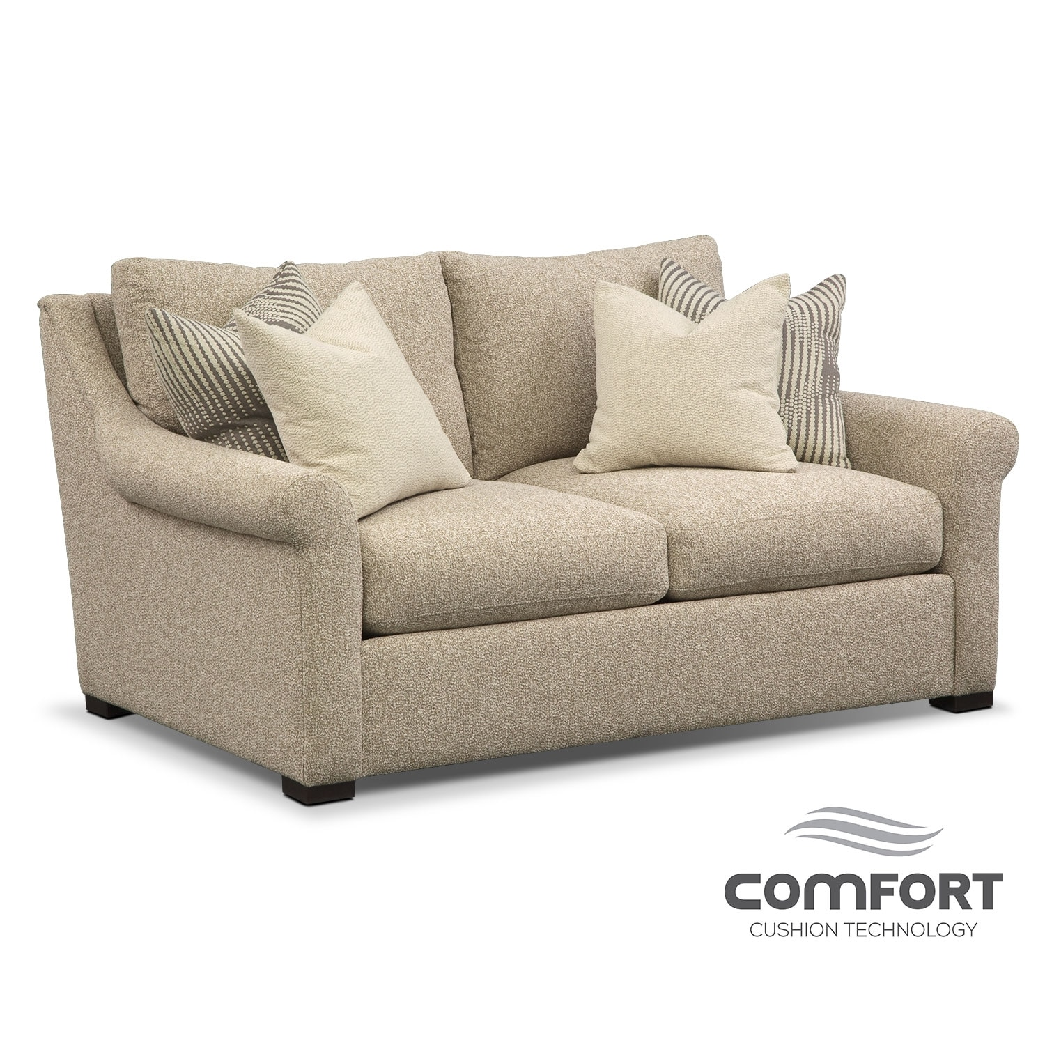 Living Room Furniture - Robertson Comfort Loveseat