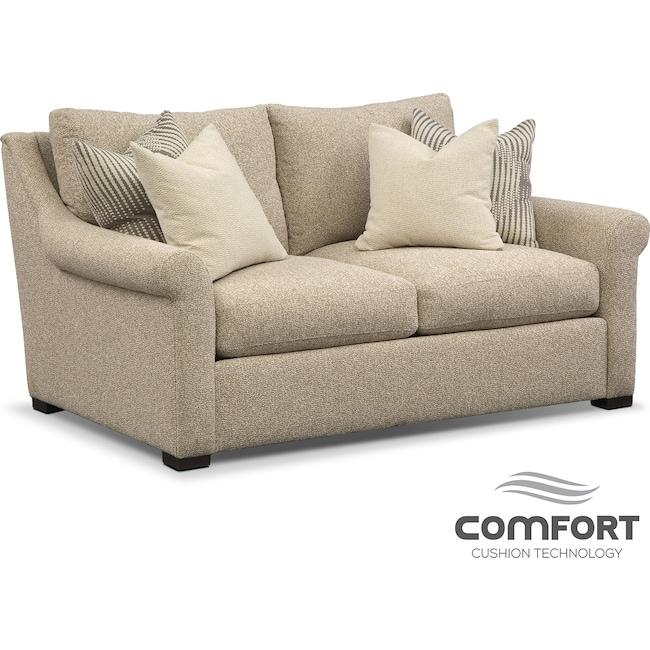 Living Room Furniture - Robertson Comfort Loveseat - Beige