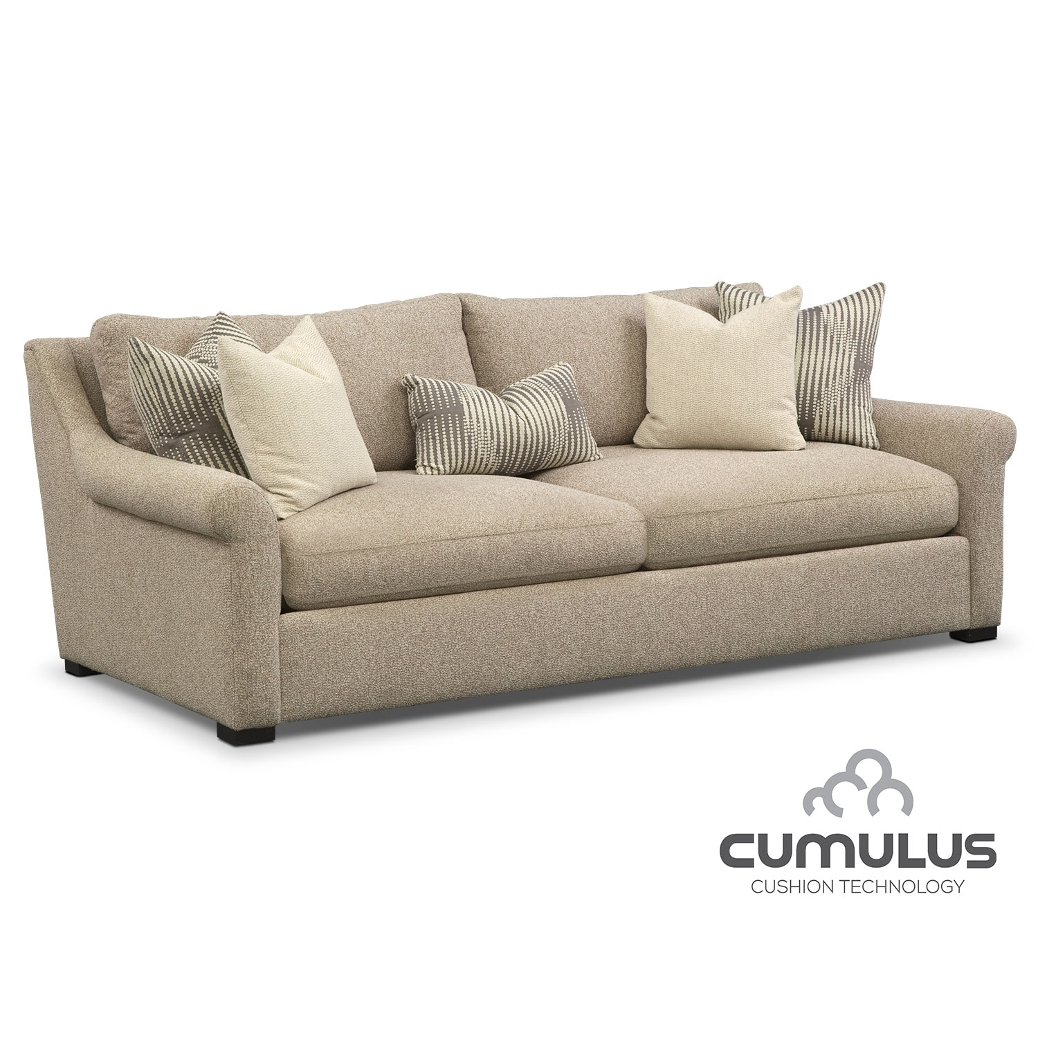 Living Room Furniture - Robertson Cumulus Sofa - Beige