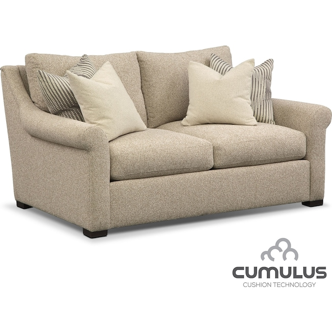Living Room Furniture - Robertson Cumulus Loveseat - Beige