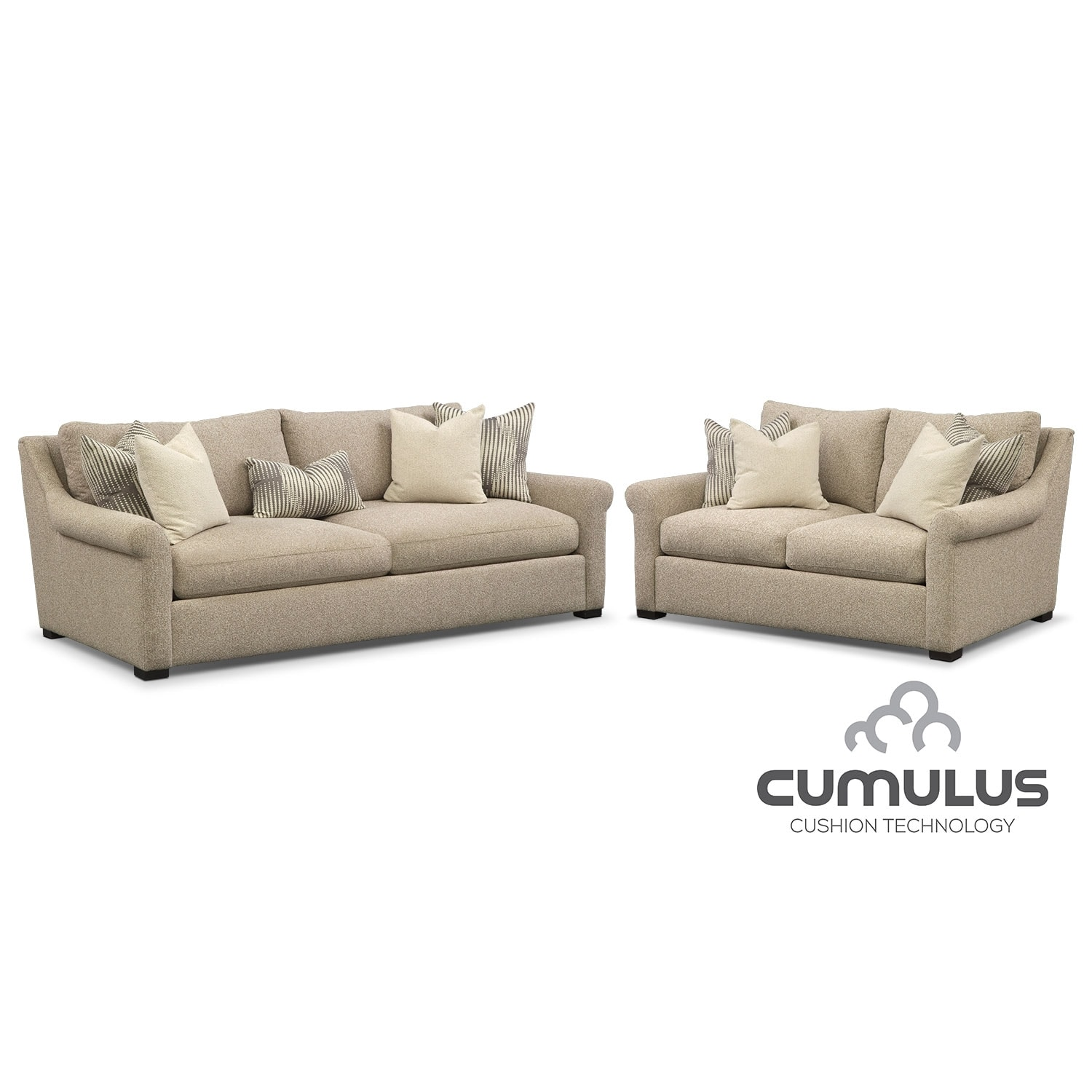 Roberston Cumulus Sofa and Loveseat Set - Beige