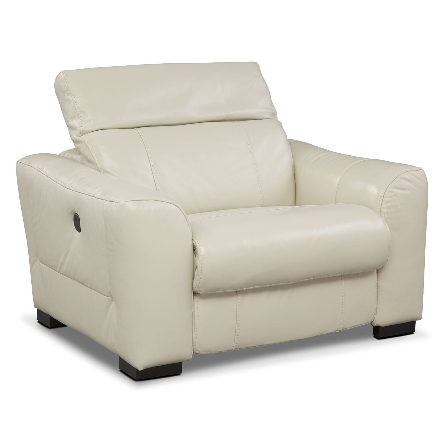 [Palisade Ivory Power Recliner]