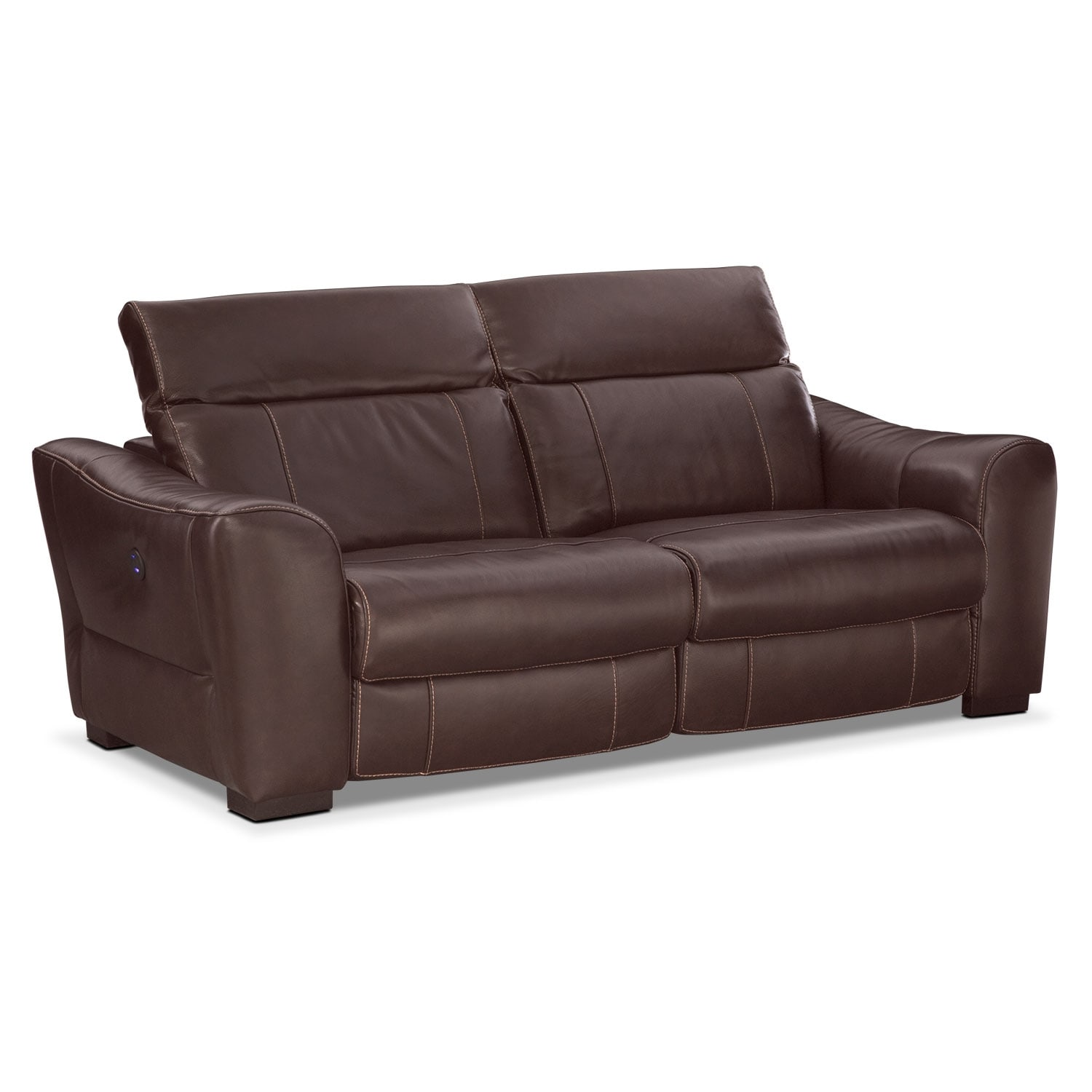 Living Room Furniture - Palisade 2-Piece Power Sofa - Brown