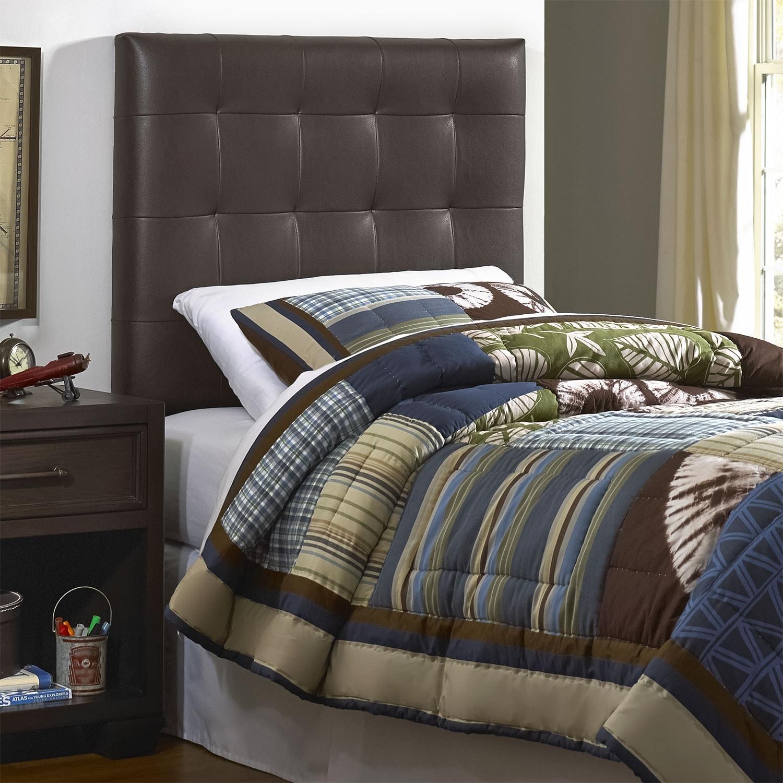 Kids Furniture - Xavier Brown Twin Upholstered Headboard