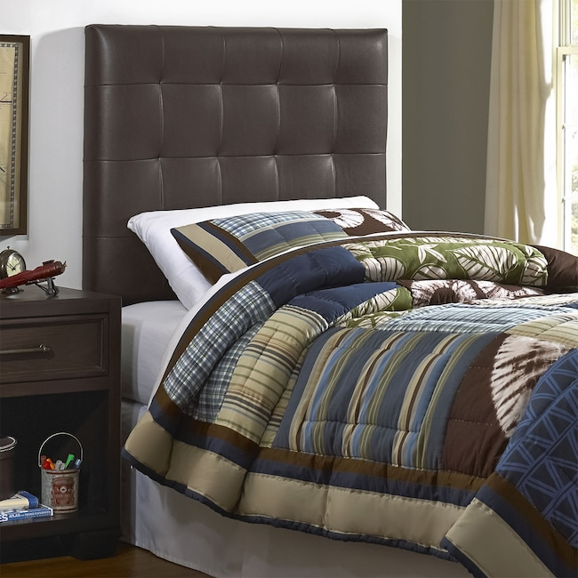 Kids Furniture - Xavier Twin Headboard - Brown