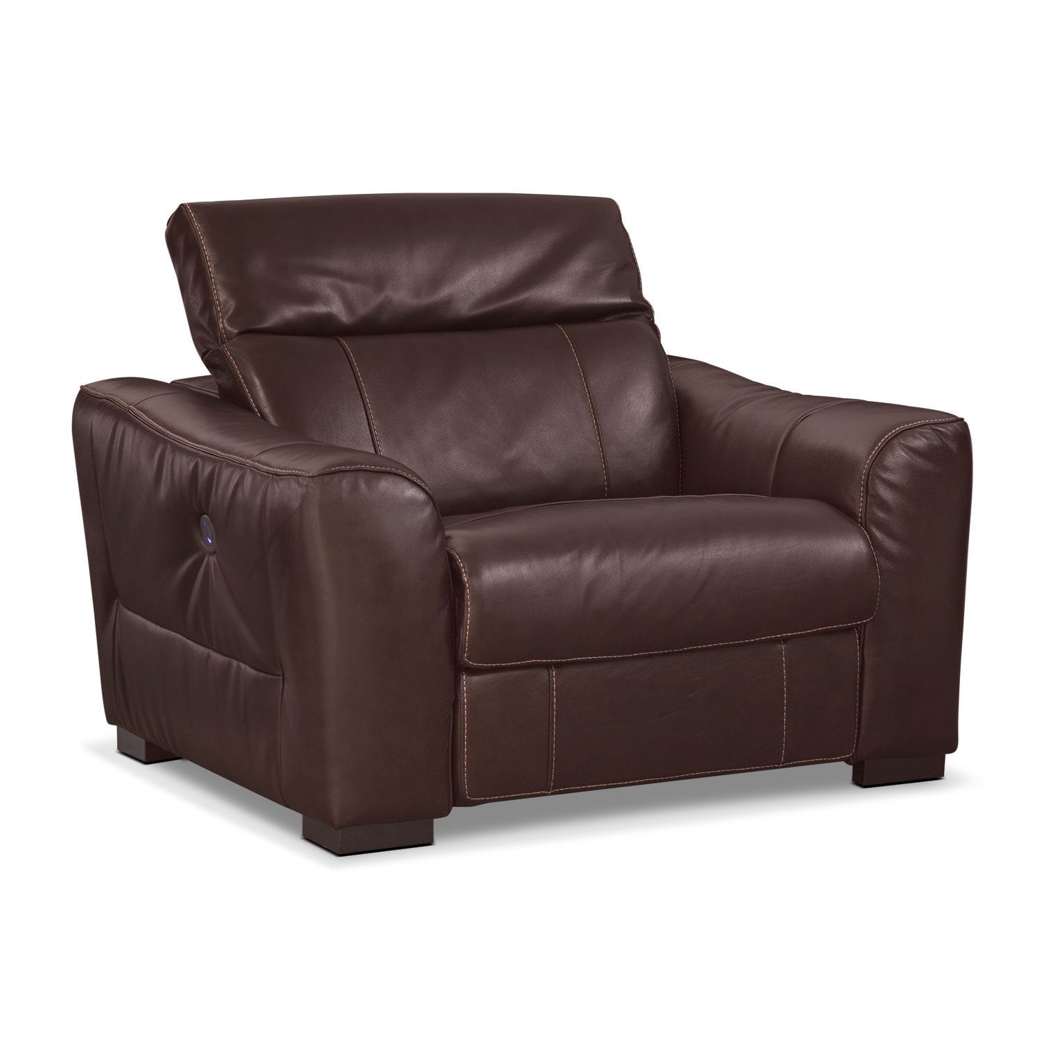 Living Room Furniture - Palisade Power Recliner - Brown