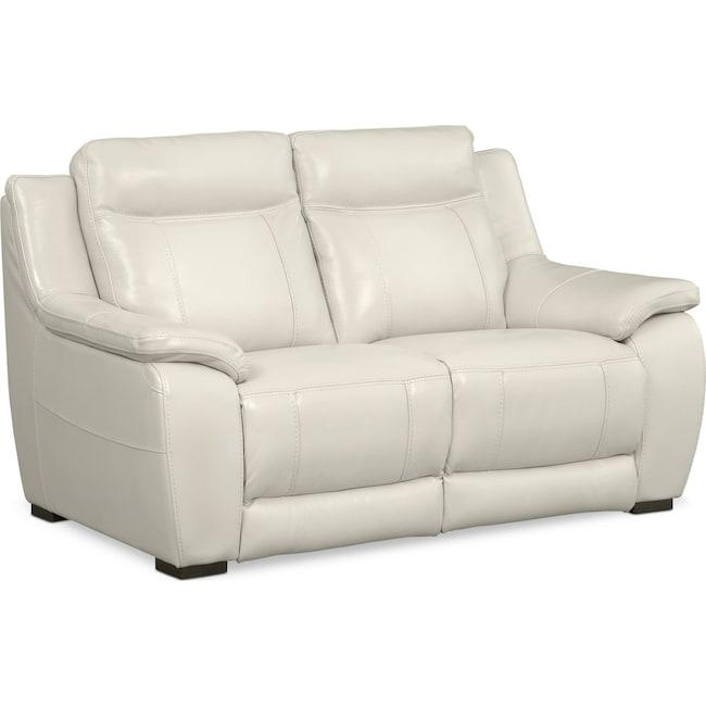 Living Room Furniture - Lido Loveseat - Ivory