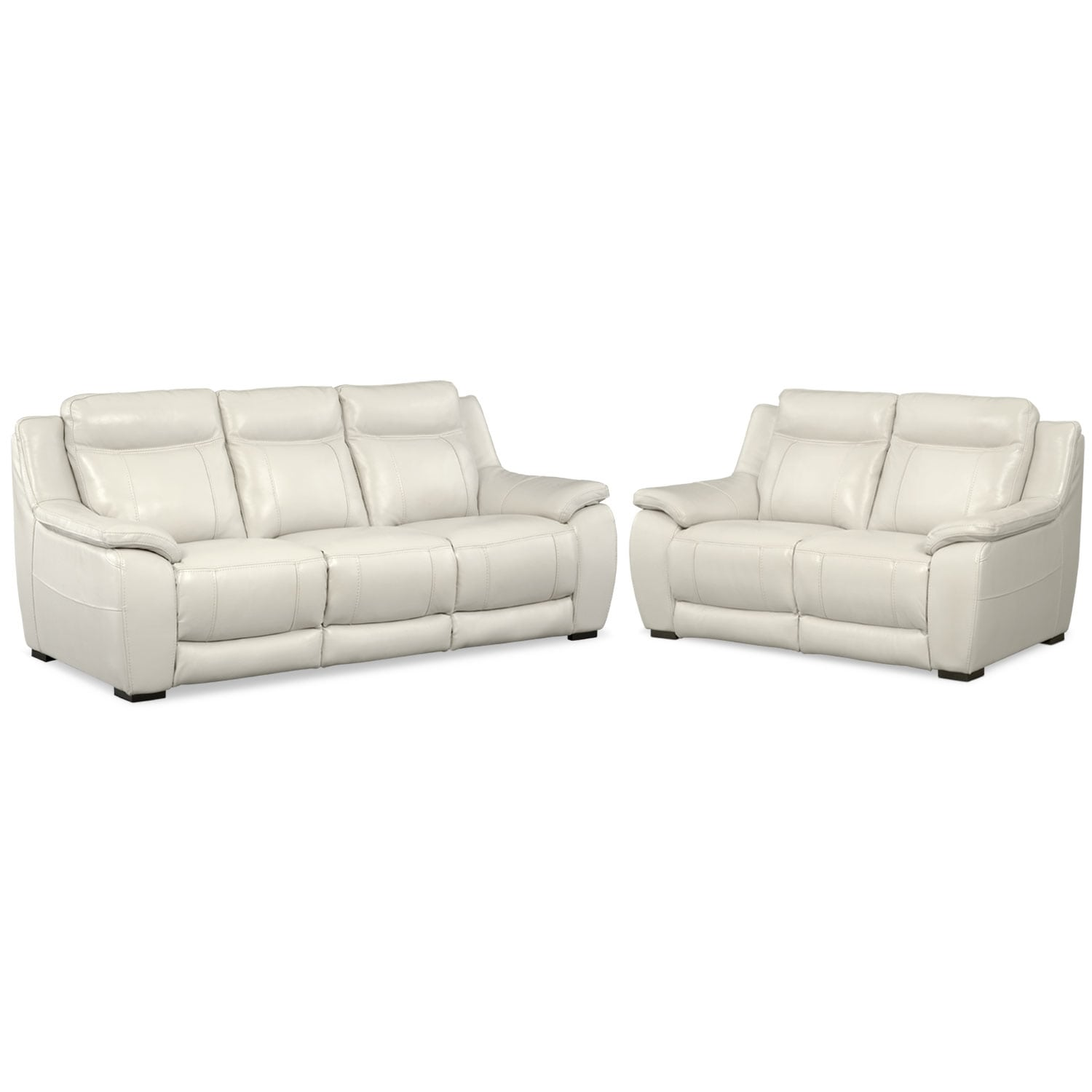 Lido Sofa and Loveseat Set - Ivory