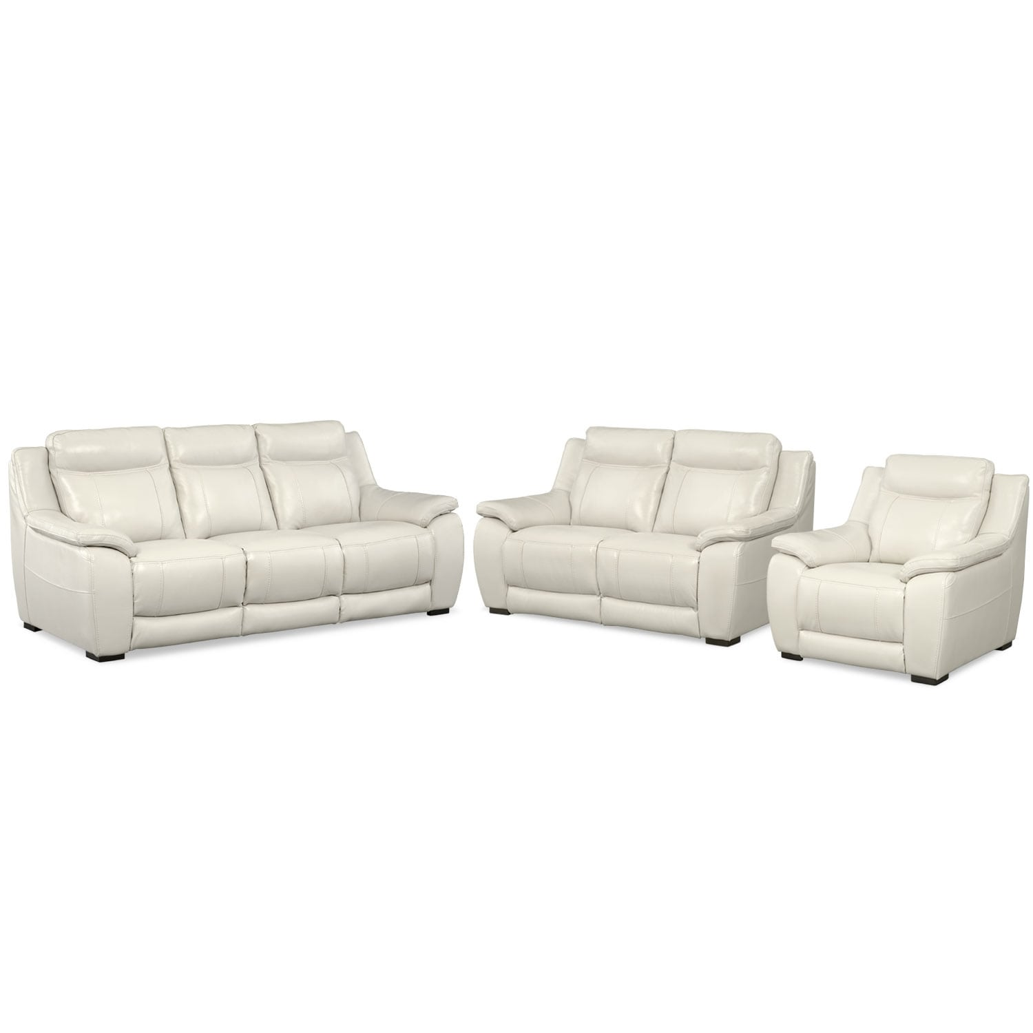 Lido Sofa, Loveseat and Chair Set - Ivory