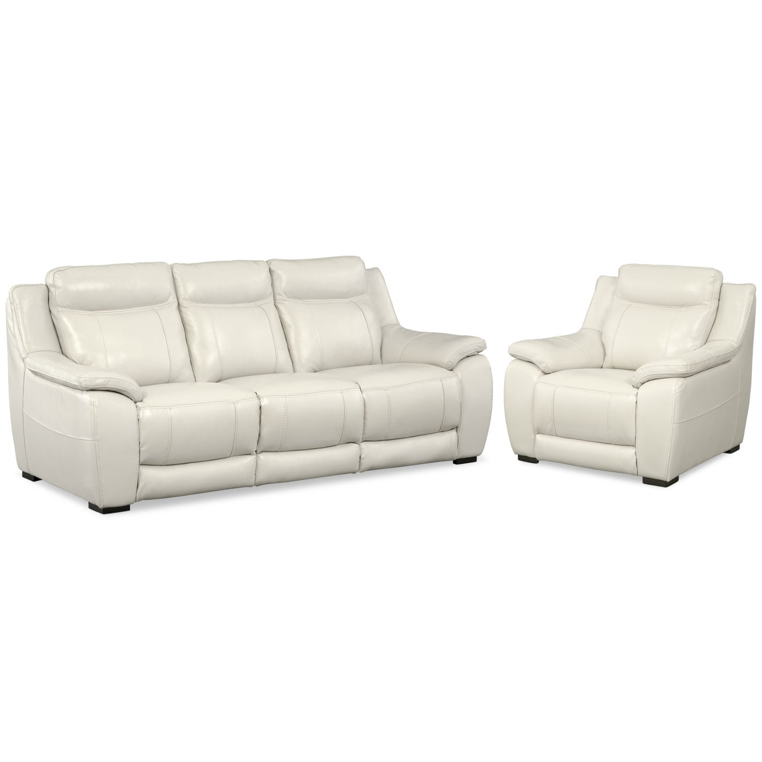 Lido Sofa and Chair Set - Ivory