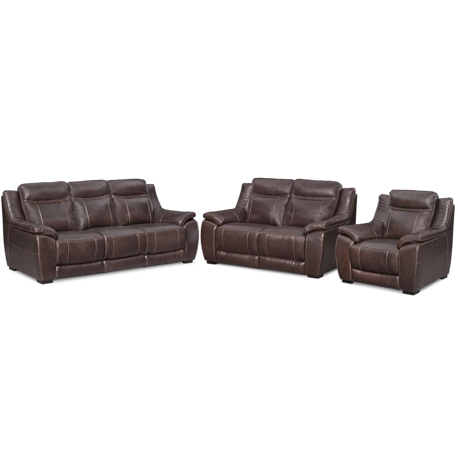 Living Room Furniture - Lido Brown 3 Pc. Living Room