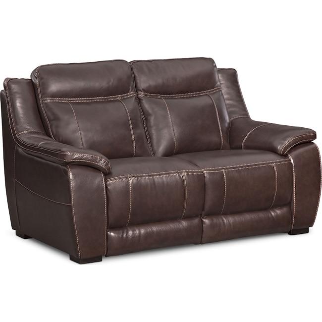 Living Room Furniture - Lido Loveseat - Brown