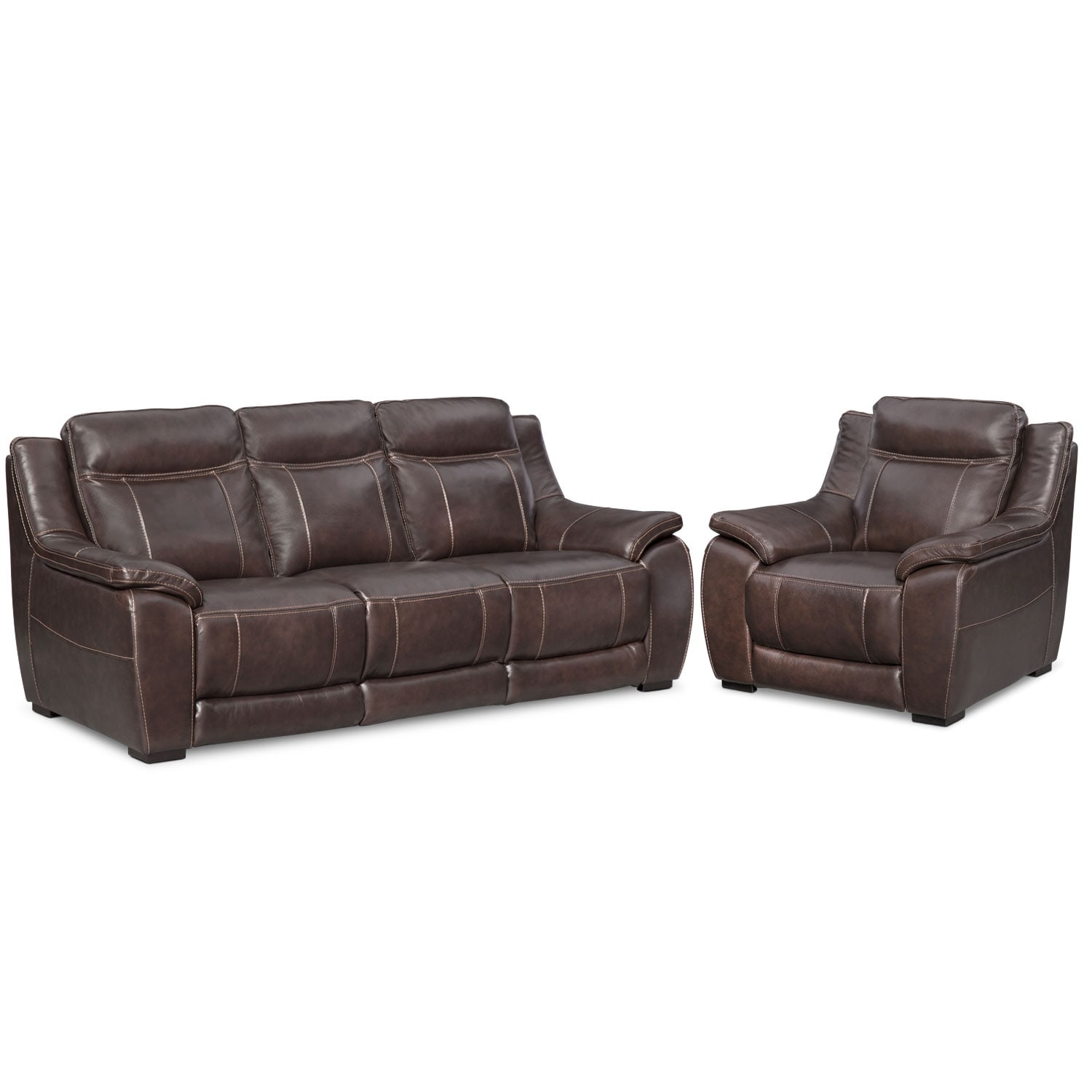 Living Room Furniture - Lido Brown 2 Pc. Living Room w/ Chair