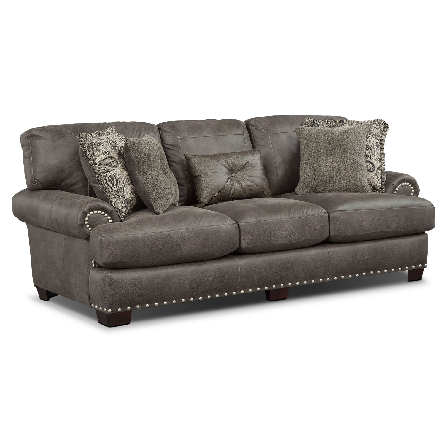 Burlington Sofa - Steel