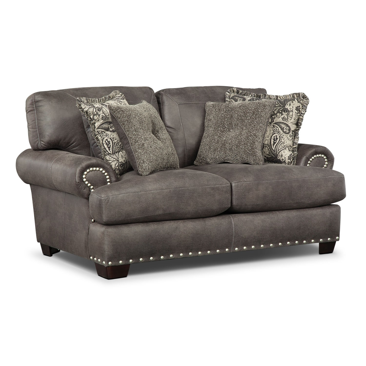 Burlington Loveseat - Steel