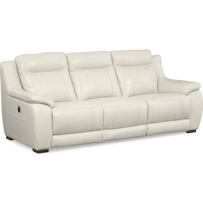 Living Room Furniture - Lido Power Reclining Sofa - Ivory
