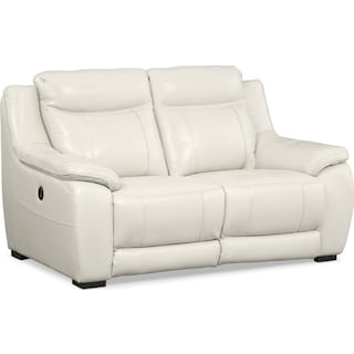 Lido Power Reclining Loveseat - Ivory