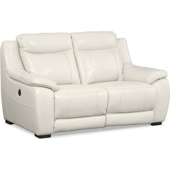 Living Room Furniture - Lido Power Reclining Loveseat - Ivory