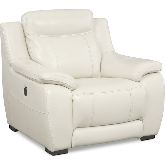 Living Room Furniture - Lido Power Recliner - Ivory
