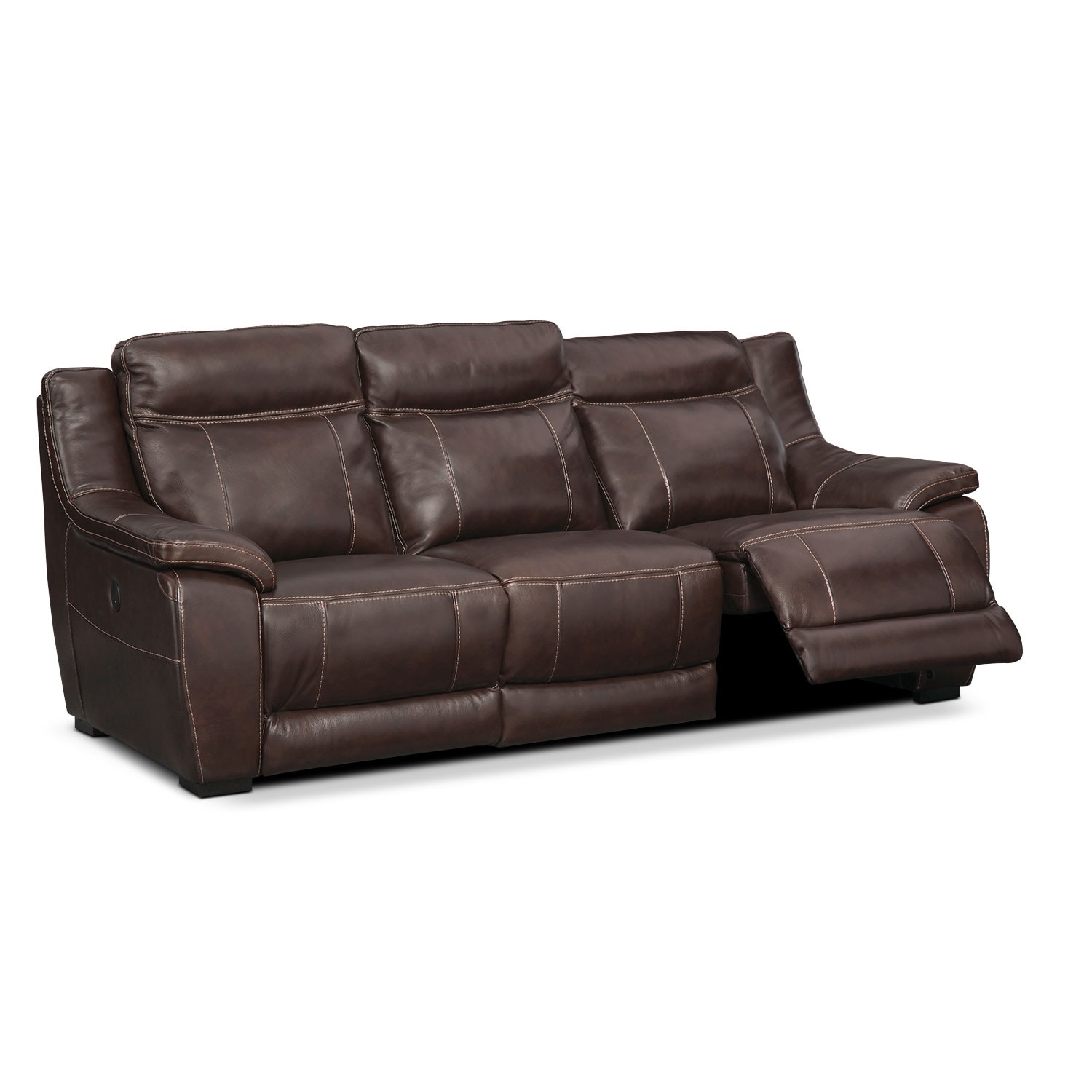 Lido Power Reclining Sofa Brown
