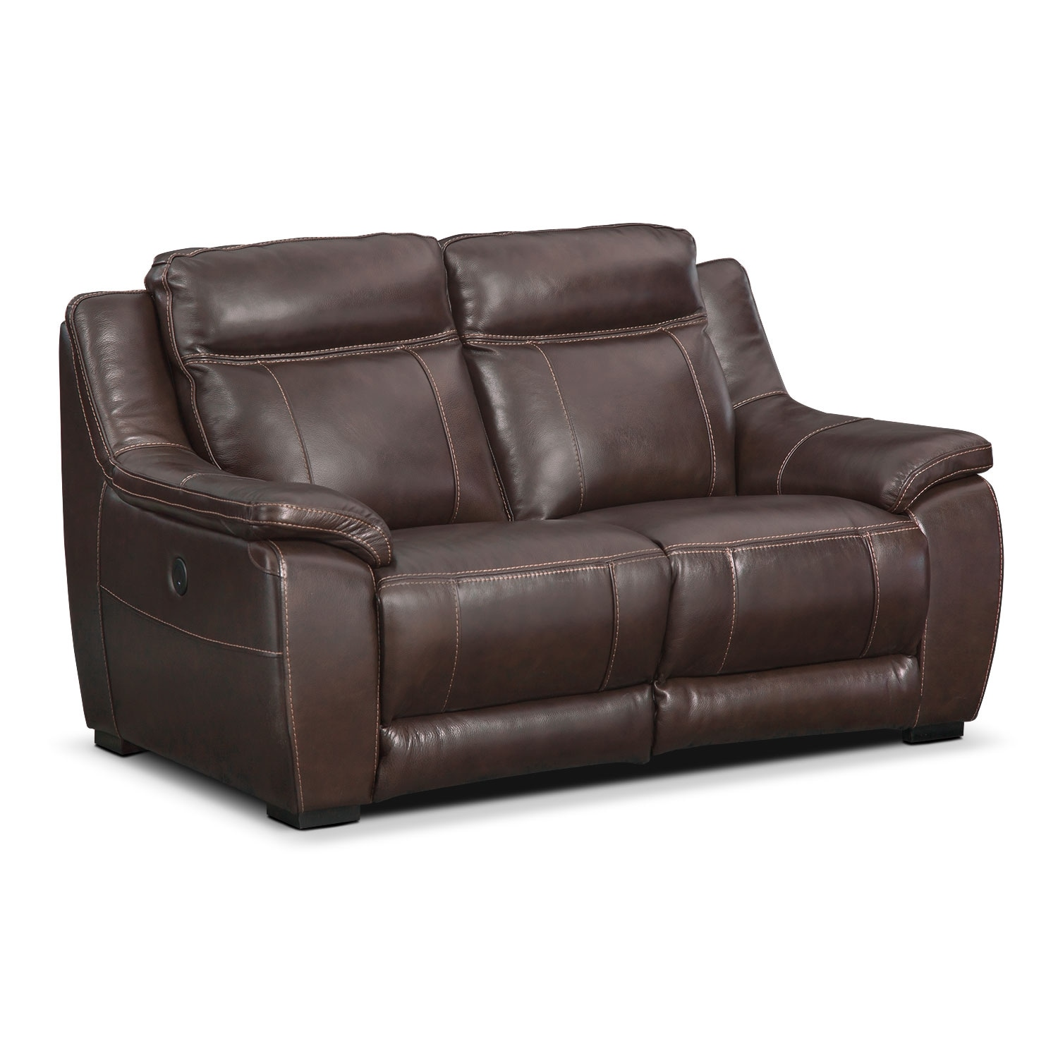 Lido Power Reclining Loveseat Brown American Signature Furniture