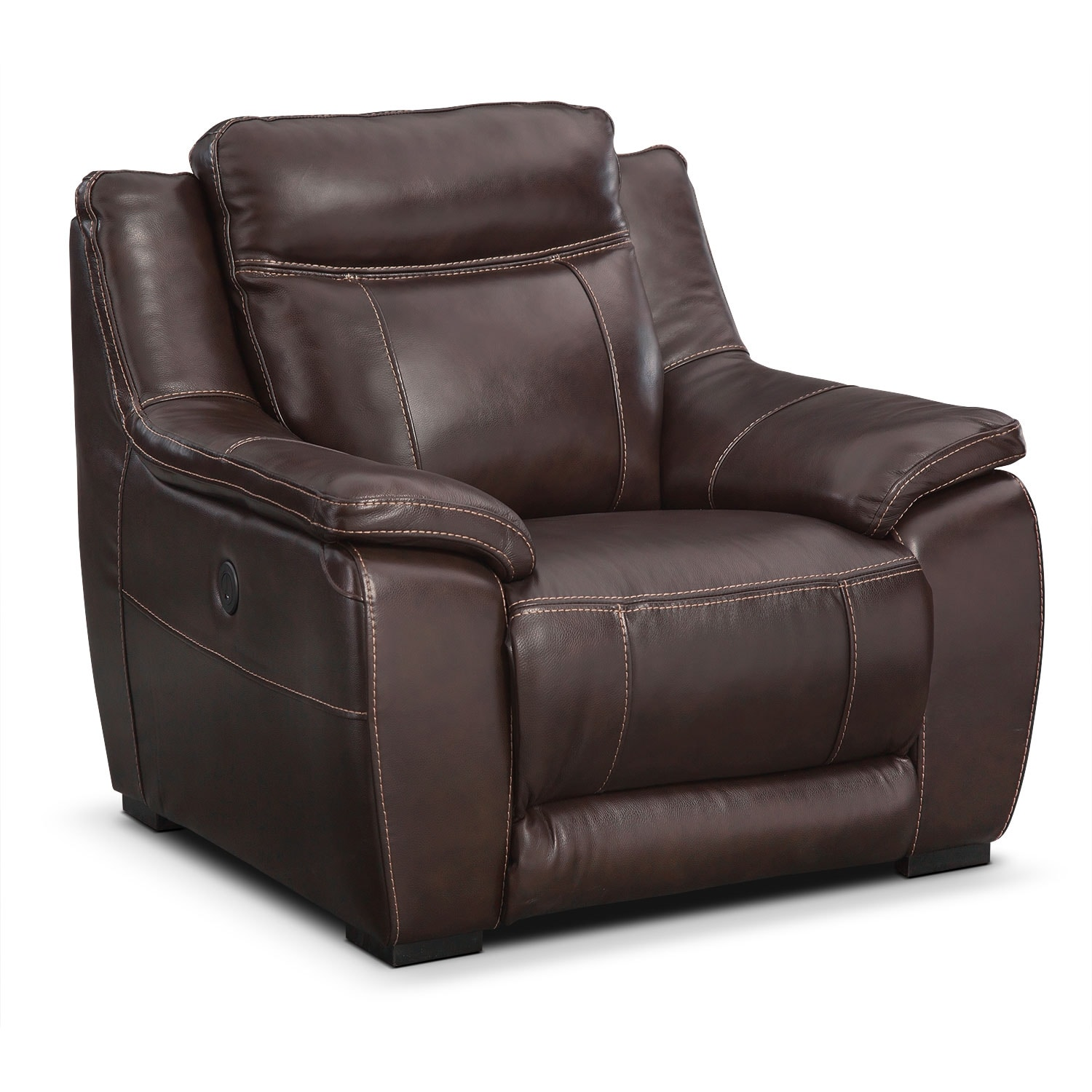 Living Room Furniture - Lido Brown Power Recliner