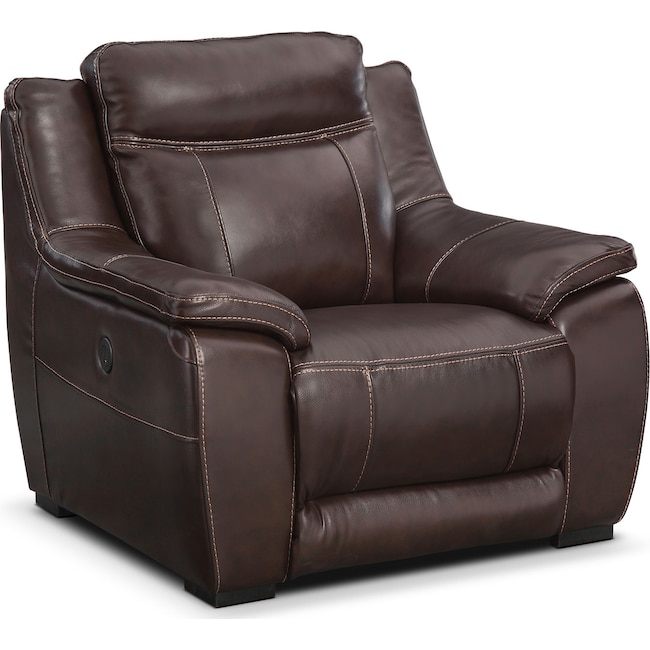 Living Room Furniture - Lido Power Recliner - Brown