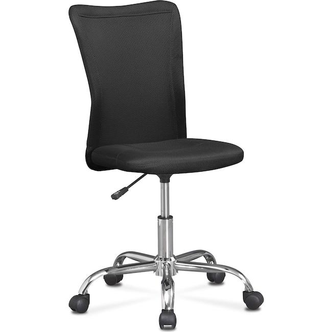 Home Office Furniture - Mist Desk Chair - Black