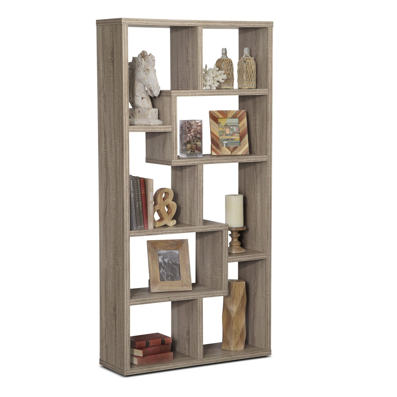 Accent and Occasional Furniture - Obsidian Bookcase - Taupe