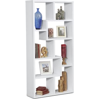 Obsidian Bookcase - White