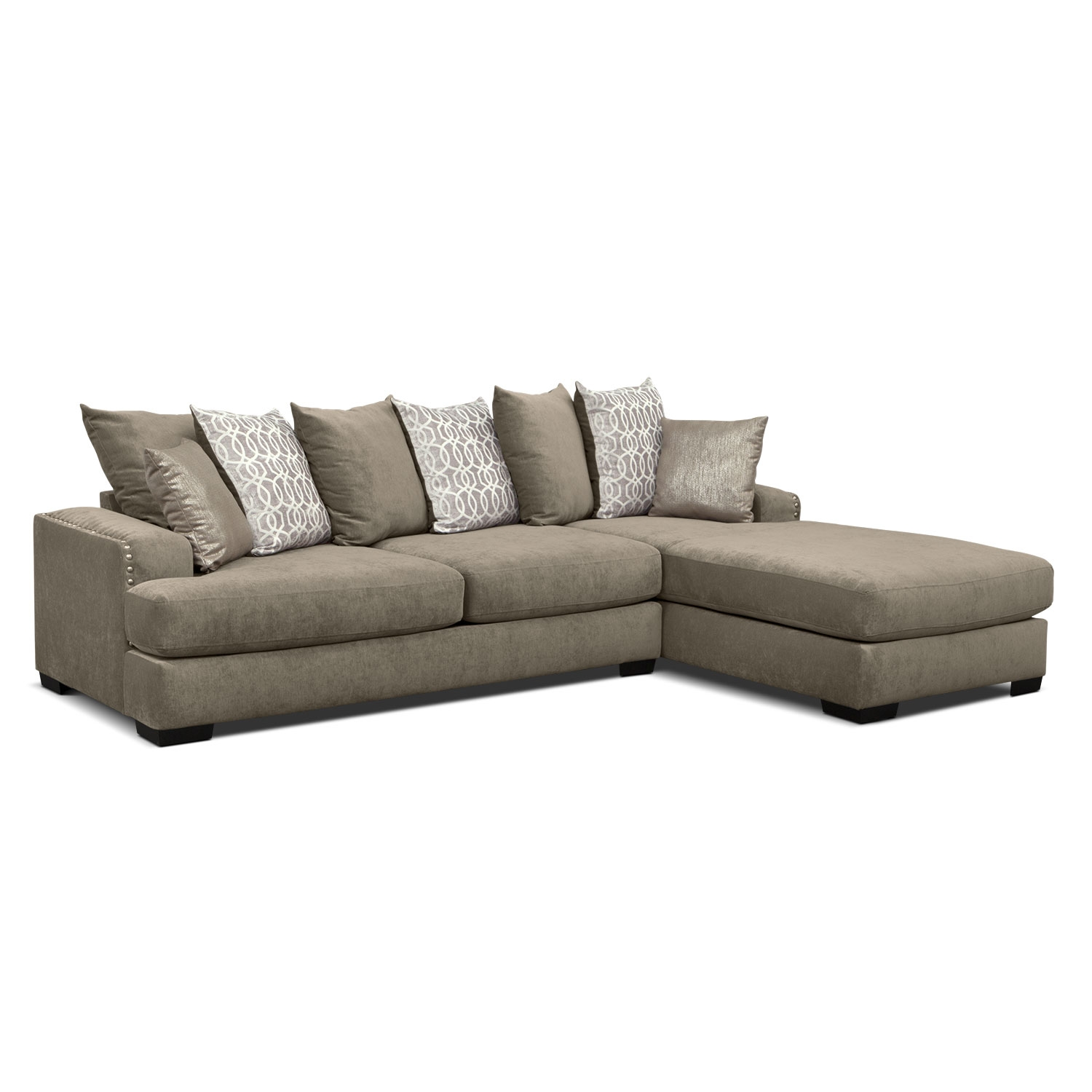 Tempo 2Piece Sectional with RightFacing Chaise